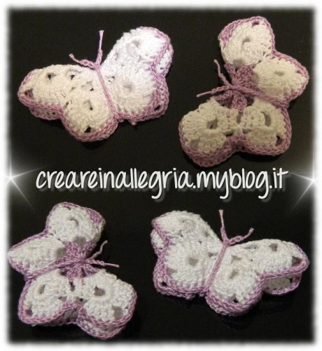 farfalline uncinetto