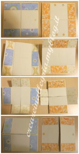 biglietti origami, card scrap