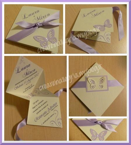 invito matrimonio. origami