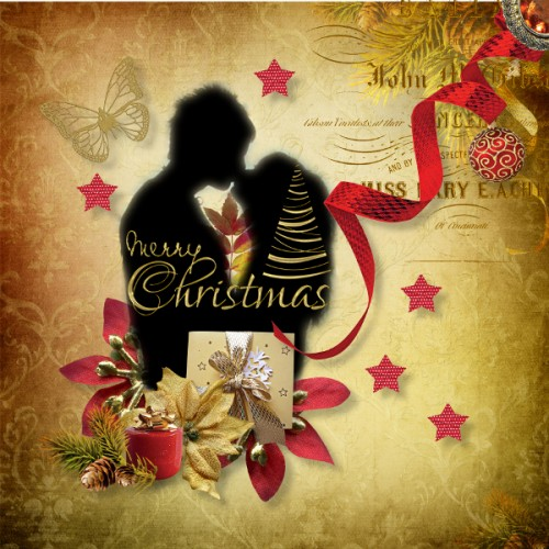 my golden xmas by valentina's creations