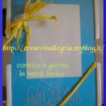 cornice blu vetro inciso